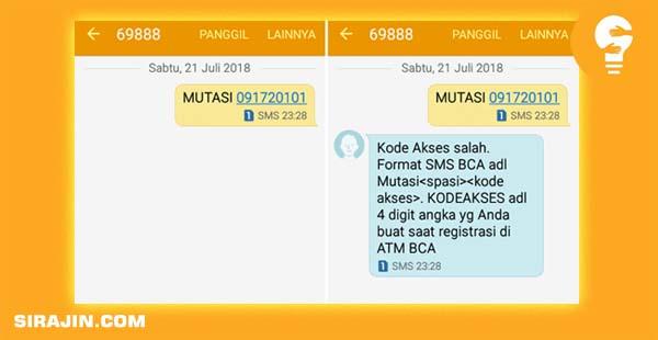 Cek Mutasi Rekening BCA Lewat SMS Banking