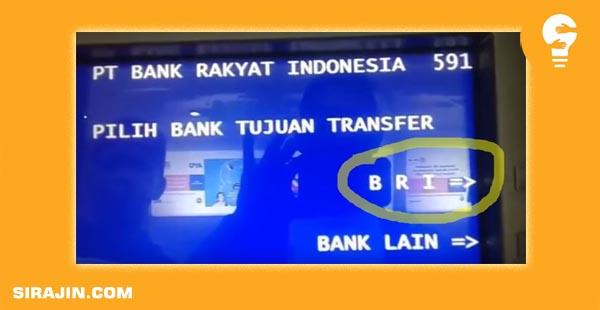 Cara Transfer Sesama Bank BRI Lewat Mesin ATM