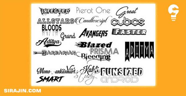 Download Fonts Picsay Pro Keren Lengkap Terbaru