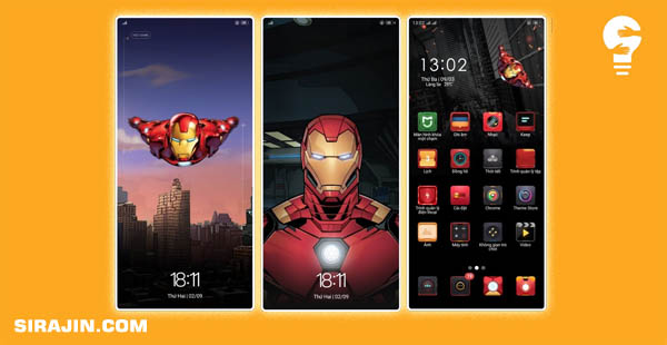 Ironman Theme For Oppo Smartphone Android
