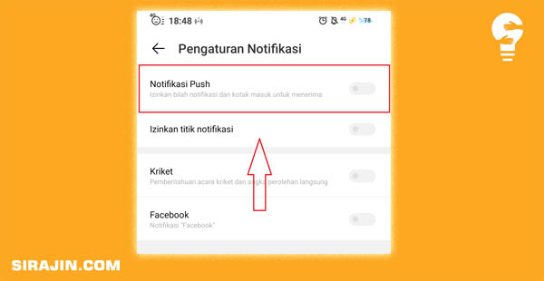 Matikan Fitur Push Notifikasi Vivo Android