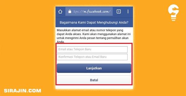 Mengembalikan akun facebook yang di bajak