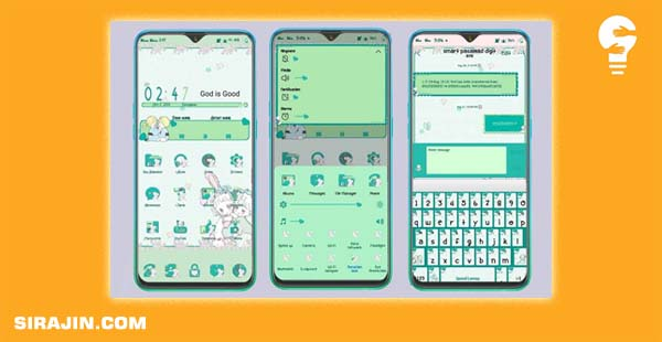 Tema Lucu Vivo Green Theme