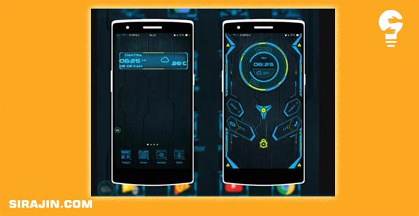 Blue Sky Minimalis Theme Android