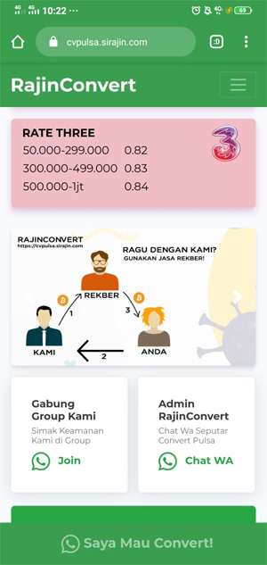 Tukar Pulsa Jadi Saldo E-wallet / Bank